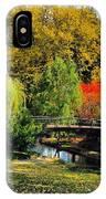 Autumn At Lafayette Park Bridge Square IPhone Case
