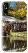 Autumn At Mabry Mill IPhone Case