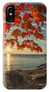 Autumn Bay Near Shovel Point IPhone Case