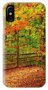 Autumn Bend - Allaire State Park IPhone Case
