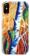 Autumn Birch IPhone Case