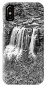 Autumn Blackwater Falls Bw IPhone Case