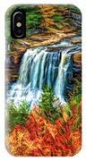 Autumn Blackwater Falls - Paint 3 IPhone Case