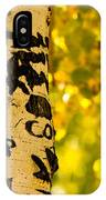 Autumn Carvings IPhone Case
