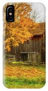 Autumn Catskill Barn IPhone Case