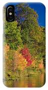 Autumn Color Trees Along Beauty Lake IPhone Case