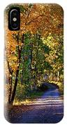 Autumn Country Lane IPhone Case