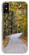 Autumn Country Road IPhone Case