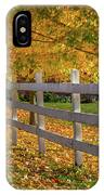 Autumn Fence IPhone Case