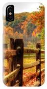 Autumn Fence Posts Scenic IPhone Case