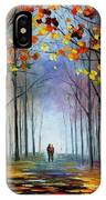 Autumn Fog 4 - Palette Knife Oil Painting On Canvas By Leonid Afremov IPhone Case