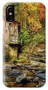 Autumn Glade Creek Grist Mill  IPhone Case
