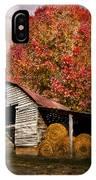 Autumn Hay Barn IPhone Case