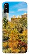 Autumn In Central Park 2 IPhone Case