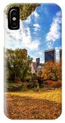 Autumn In Central Park IPhone Case