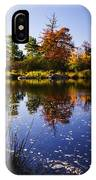Autumn In Maine Usa IPhone Case