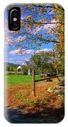 Autumn In Montpelier IPhone Case