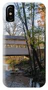 Autumn In Valley Forge - Knox Covered Bridge IPhone Case