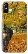 Autumn Leaves At Lafayette Park IPhone Case
