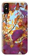 Autumn Leaves In Blue Sky IPhone Case