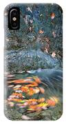 Autumn Leaves In Waterfall IPhone Case