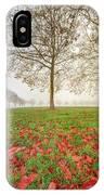 Autumn Leaves Near To Far Super High Resolution IPhone Case