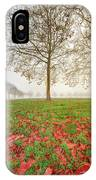 Autumn Leaves Near To Far Super High Resolution IPhone Case