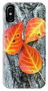 Autumn Leaves On Tree Bark IPhone Case