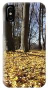 Autumn Maple Forest - Massachusetts Usa IPhone Case