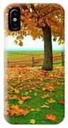 Autumn Maple Tree And Leaves IPhone Case