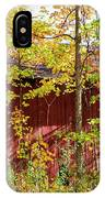 Autumn Michigan Barn  IPhone Case
