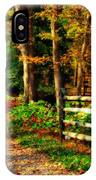 Autumn Moment - Allaire State Park IPhone Case