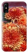 Autumn Mums - Against Brick IPhone Case