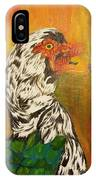 Autumn Muscovy Portrait IPhone Case