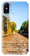 Autumn On The Railroad IPhone Case by Parker Cunningham