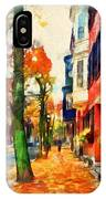 Autumn On The Streets Of Boston IPhone Case