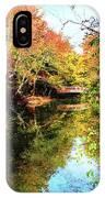 Autumn Park With Bridge IPhone Case