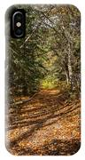 Autumn Path In Spearfish Canyon IPhone Case