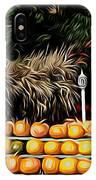 Autumn Pumpkins And Cornstalks Graphic Effect IPhone Case