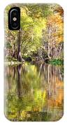Autumn Reflection On Florida River IPhone Case