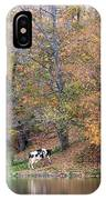 Autumn Reflections Cow Farm IPhone Case