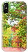 Autumn Road - Digital Paint IPhone Case