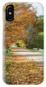 Autumn Road With Fence  IPhone Case