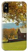 Autumn Shenandoah Barn IPhone X Case