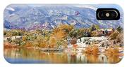 Autumn Snow At The Lake IPhone Case