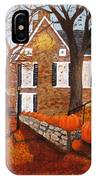 Autumn Stone House IPhone Case