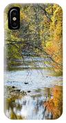 Autumn Stream Reflections IPhone Case