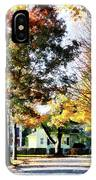 Autumn Street With Yellow House IPhone Case