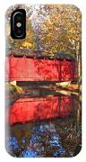 Autumn Sunrise Bridge II IPhone Case