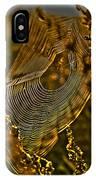 Autumn Sunrise With Spider Web IPhone Case